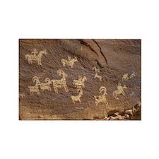 Ute Petroglyphs - Rectangle Magnet