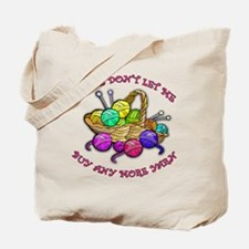 Too Much Yarn! Knitting Tote Bag