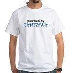 Powered By Chutzpah White T-Shirt