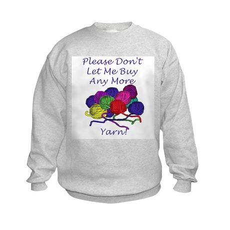 Too Much Yarn! Kids Sweatshirt