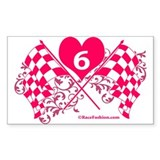 6 checkered flag Bumper Stickers