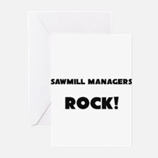 Sawmill Managers ROCK Greeting Cards (Pk of 10)