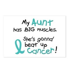 Big Muscles 1.2 TEAL (Aunt) Postcards (Package of