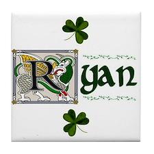 Ryan Celtic Dragon Ceramic Tile