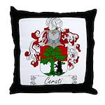 Cerati Family Crest Throw Pillow
