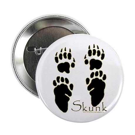 """Skunk Tracks Design 2.25"""" Button (10 pack)"""