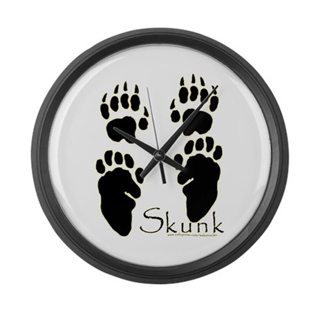 Skunk Tracks Design Large Wall Clock