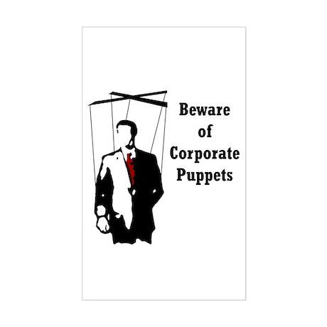 Corporate Puppet Rectangle Sticker