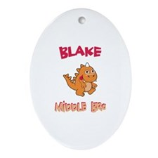 Blake - Middle Brother Oval Ornament