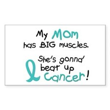 Big Muscles 1.2 TEAL (Mom) Rectangle Decal