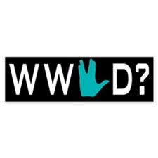 What Would Spock Do? Bumper Car Sticker
