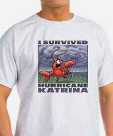I survived Hurricane Katrina Ash Grey T-Shirt
