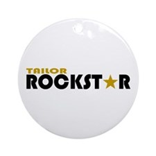 Tailor Rockstar Ornament (Round)