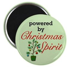 Powered By Christmas Spirit Magnet