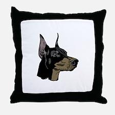 The Distinctive Doberman Throw Pillow