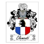 Clementi Family Crest Small Poster
