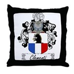 Clementi Family Crest Throw Pillow