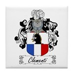 Clementi Family Crest Tile Coaster