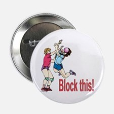 """VOLLEYBALL BLOCK THIS 2.25"""" Button"""