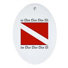 Dive Designs Oval Ornament