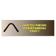 Throw Today Bumper Bumper Sticker