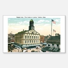 Boston Massachusetts MA Rectangle Decal