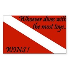 Dive Toys Rectangle Decal
