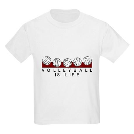 Volleyball is life kids light t shirt volleyball is life t for Life is good volleyball t shirt