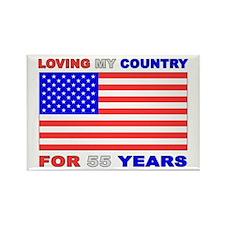 Patriotic 55th Birthday Rectangle Magnet