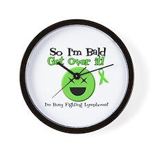 Busy Fighting Lymphoma Wall Clock