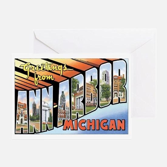 Ann Arbor Michigan MI Greeting Card