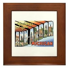 Ann Arbor Michigan MI Framed Tile