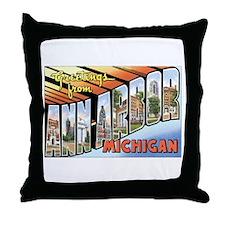 Ann Arbor Michigan MI Throw Pillow