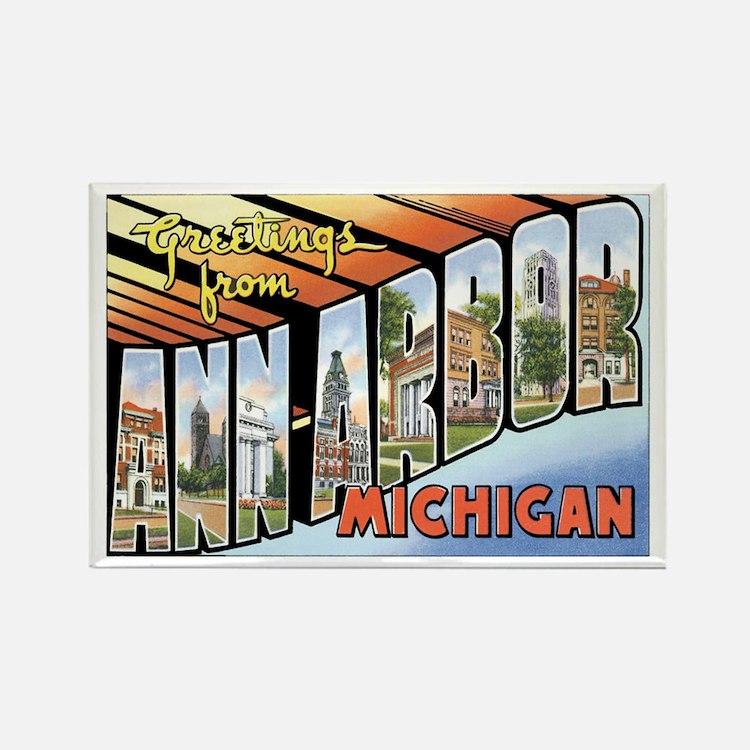Ann Arbor Michigan MI Rectangle Magnet
