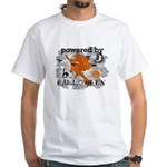 Powered By Halloween White T-Shirt