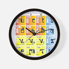 Cute Quarks Wall Clock