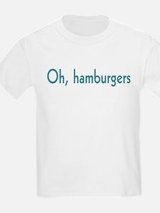 oh hamburgers Kids T-Shirt