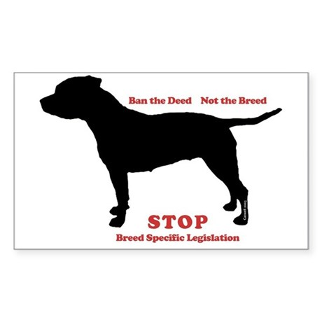 STOP BSL Rectangle Sticker