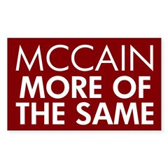 McCain More of the Same Rectangle Decal