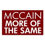McCain More of the Same Rectangle Sticker