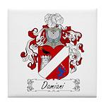 Damiani Family Crest Tile Coaster
