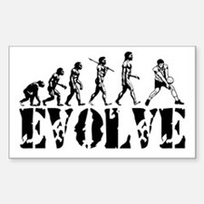 Volleyball Evolution Rectangle Decal
