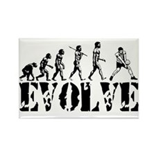 Volleyball Evolution Rectangle Magnet