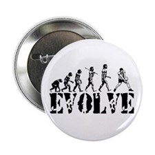 "Volleyball Evolution 2.25"" Button"
