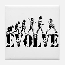 Volleyball Evolution Tile Coaster
