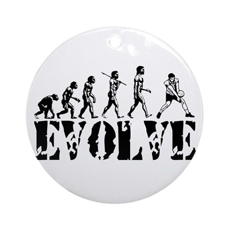 Volleyball Evolution Ornament (Round)