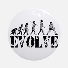 Volleyball Evolution Ornament (Round)