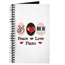 Peace Love Piano Journal