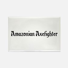 Amazonian Axefighter Rectangle Magnet