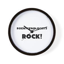 Roentgenologists ROCK Wall Clock